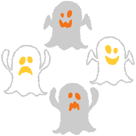 Simple and cute halloween vector icons. Vector illustration. Illustration