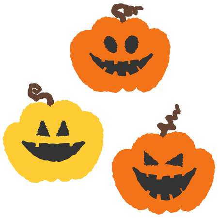 Simple and cute halloween vector icons. Vector illustration.  イラスト・ベクター素材