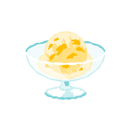 Vector illustration of an ice cream with simple touch  イラスト・ベクター素材