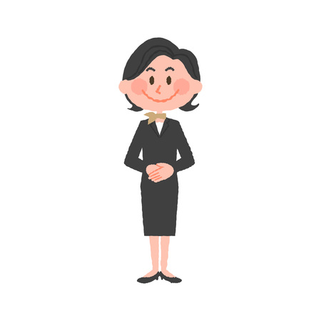 vector illustration of a hotel worker Vectores