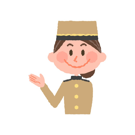 vector illustration of a hotel worker 写真素材 - 84586292