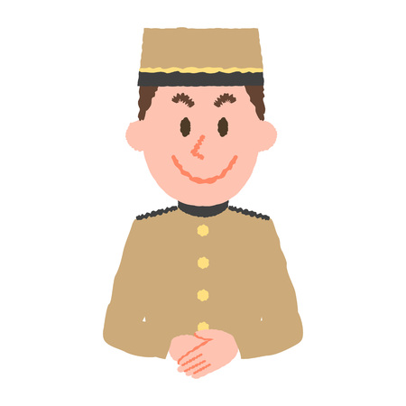 Vektor-Illustration eines Hotelangestellten