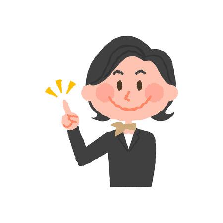vector illustration of a hotel worker Illustration