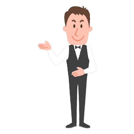 illustration of a hotel worker