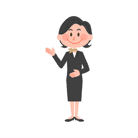 vector illustration of a hotel worker Illustration