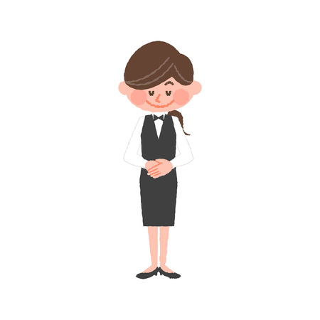 vector illustration of a hotel worker Ilustrace