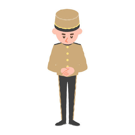 Vektor-Illustration eines Hotelangestellten Vektorgrafik