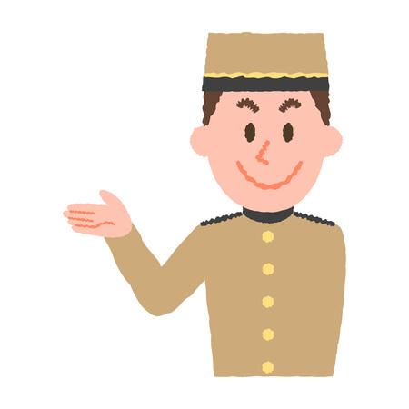 Abbildung eines Hotelangestellten