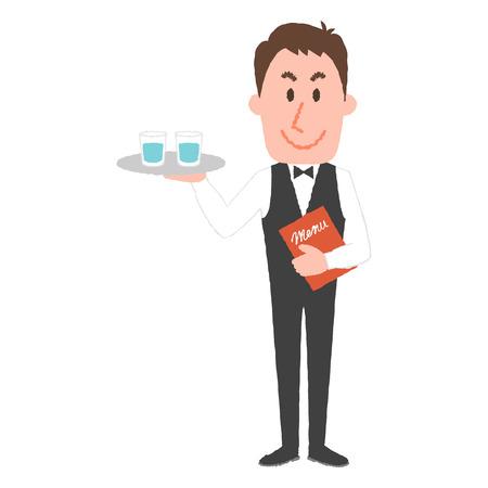 Illustration vectorielle d'un serveur Banque d'images - 84517245
