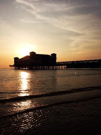 weston super mare: Sunset shot. Grand pier weston super mare Somerset