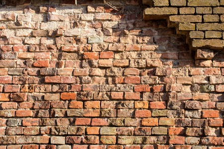 red brick: abstract background pattern red brick wall - texture
