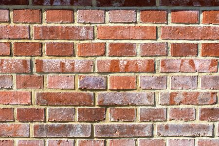 abstract background pattern red brick wall - background, texture Stock Photo