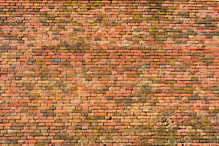 brick texture: old wall of red and orange bricks for texture, or background