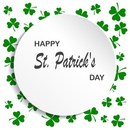 Irish shamrock leaves background for Happy St. Patrick s Day. EPS 10. Illustration