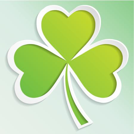 Irish shamrock leaves background for Happy St. Patrick s Day. EPS 10. Ilustração