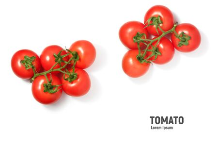 Tomato isolated on white background, top view 写真素材