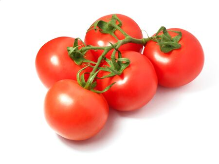 Tomato isolated on white background. Bunch of fresh tomatoes 写真素材