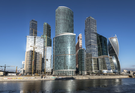 Russia. City of Moscow. Business Center Moscow City. photo