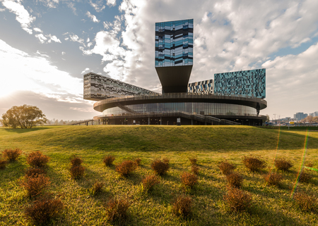 Moscow, Russia - October 18, 2015: the Innovation center SKOLKOVO. Moscow school of management. Editorial