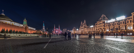 spassky: Moscow, Russia - October 16, 2015: Red square at night. Editorial