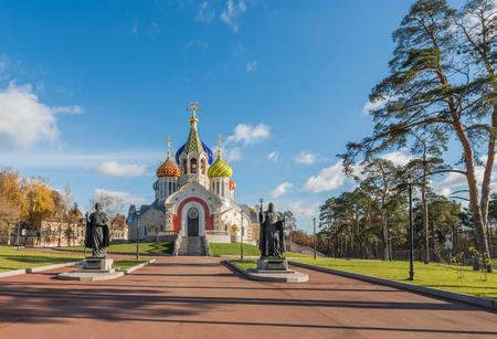 igor: Moscow, Russia - October 29, 2015: Church of the Holy Igor of Chernigov in Novo-Peredelkino.