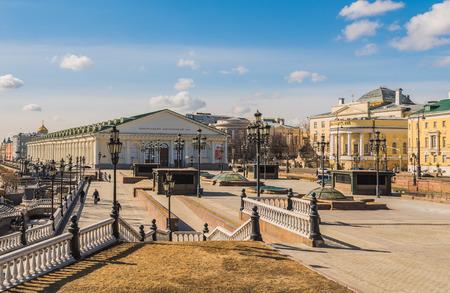 Moskau, Russland - 21. März 2016: Zentrale Ausstellungshalle auf Manezh-Platz.