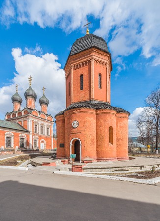 petrovka: Moscow, Russia - March 21, 2016: the Cathedral of St. Peter, Metropolitan of Moscow and all Russia in vysokopetrovsky monastery.