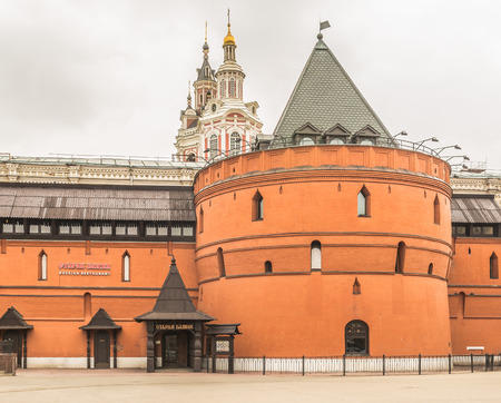 trigonal: Moscow, Russia - March 22, 2016: the restaurant is Old Tower at the Revolution square.