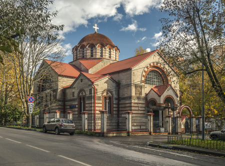 Moscow, Russia - October 1, 2016: the Temple of the Mother of God of the Sign in Kuntsevo. Editorial
