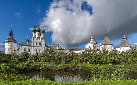 Rostov, Russia - September 13, 2016: the Metropolitan of Rostov Kremlin garden.