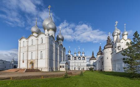 Rostov, Russia - September 13, 2016: the Cathedral square of the Rostov Kremlin. Stock Photo