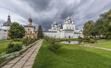 Rostov, Russia - September 13, 2016: Vladyki yard of Rostov Kremlin.