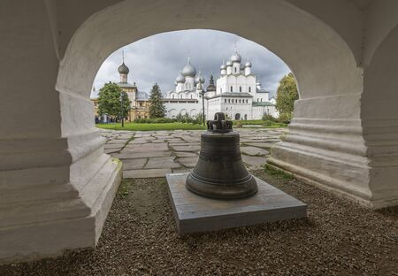 Rostov, Russia - September 13, 2016: the Bell in the arched vault of the Rostov Kremlin.