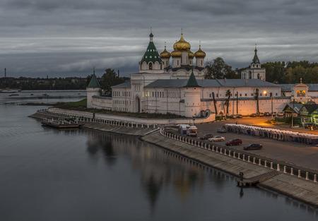 Kostroma, Russia - September 15, 2016: Holy Trinity Ipatiev Monastery in dusk.