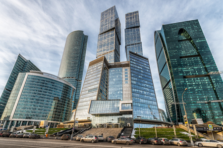 Moscow, Russia - November 20, 2016: Business center Moscow-city.