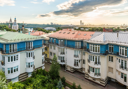 Moscow, Russia - July 9, 2016: the View from the observation deck of wounds at home on St. Andrew's quay. Editorial