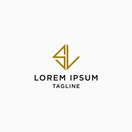 Letter SL Logo Icon Design Template. Elegant, Luxury, Gold, Modern Vector Illustration