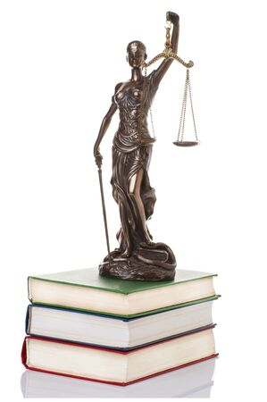 advocate: Statue of justice  isolated on the white background