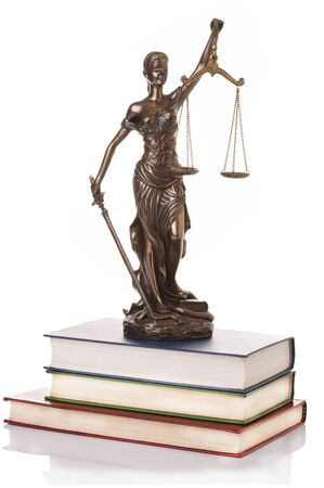 advocate symbol: Statue of justice  isolated on the white background