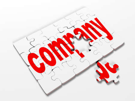 tehnology: word puzzles pertaining to the business on a white background,