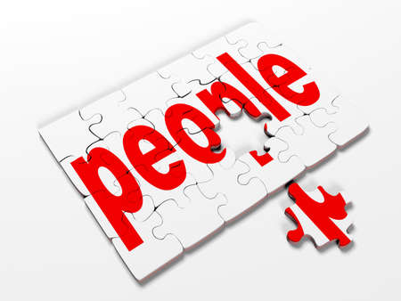 casual business team: word puzzles pertaining to the business on a white background,