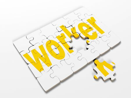 word puzzles pertaining to the business on a white background,