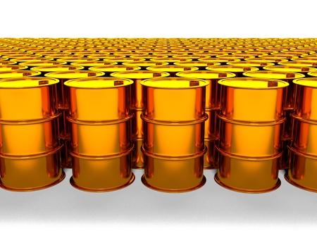 3d image of oil golden barrel background