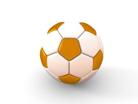 Soccer ball. Isolated object on white background 3d render Stock Photo