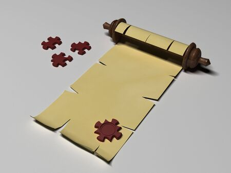 3d puzzle seal scroll letter photo