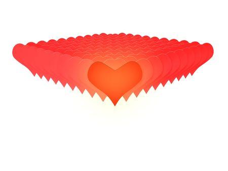 3D red heats valentine love photo