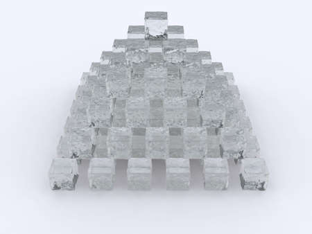 refrigerate: 3d ice pyramid cold cube