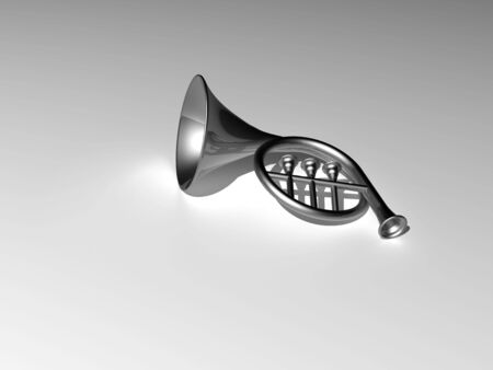 blare: 3d illustration isolated musical instrument Stock Photo