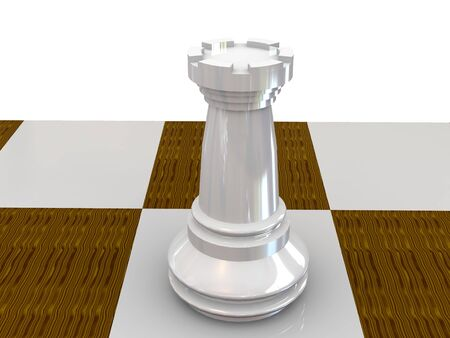 rook. chess 3d Stock Photo - 3354001