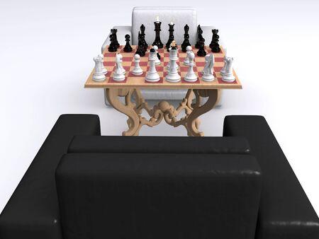 chess. black and white photo